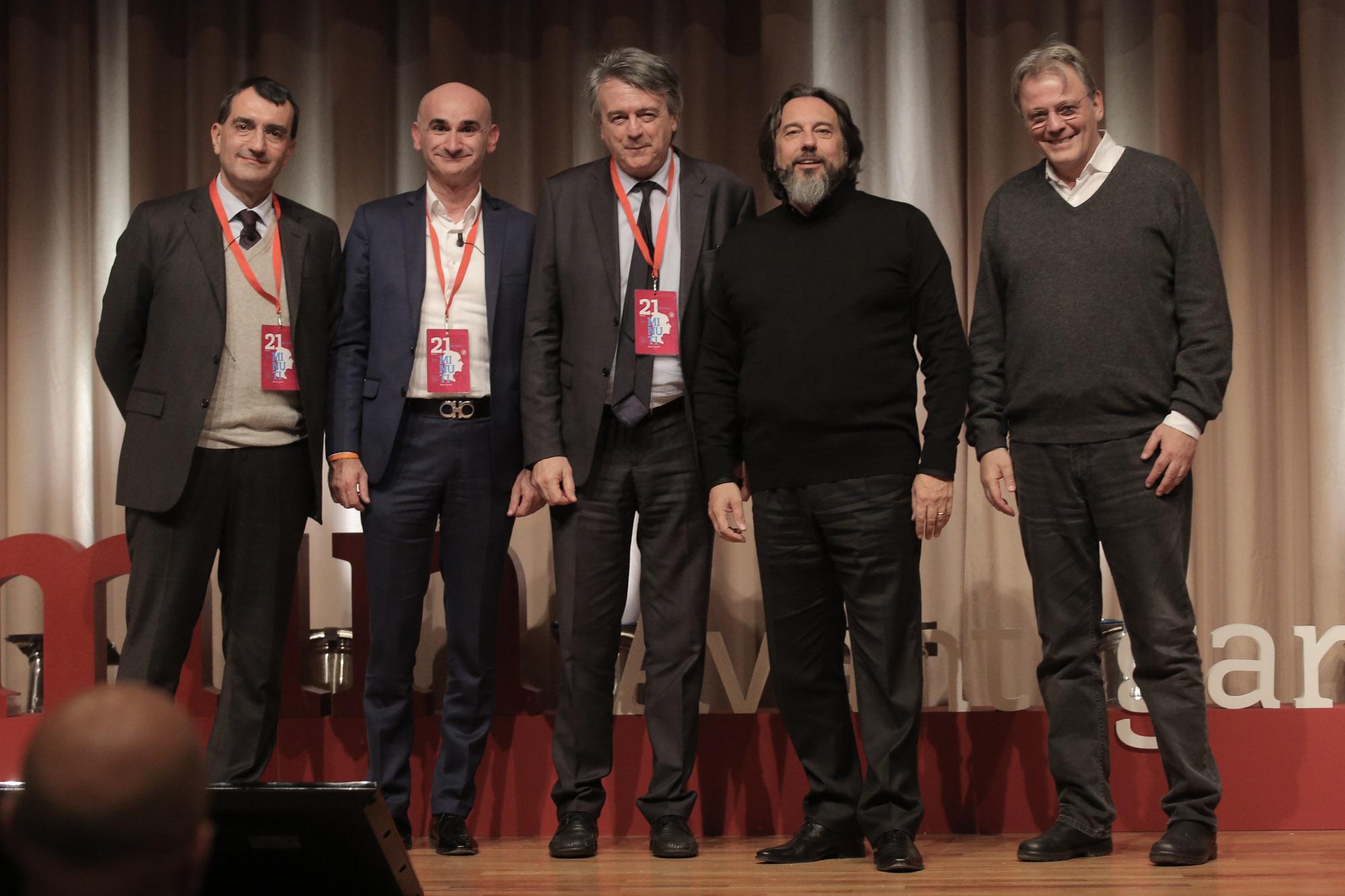 Paoletti con il Segretario di Stato Claudio Maria Morganti e gli speaker di 21minuti